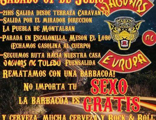I Ruta nocturna Jaguars MC Toledo – Sábado 7 de Julio