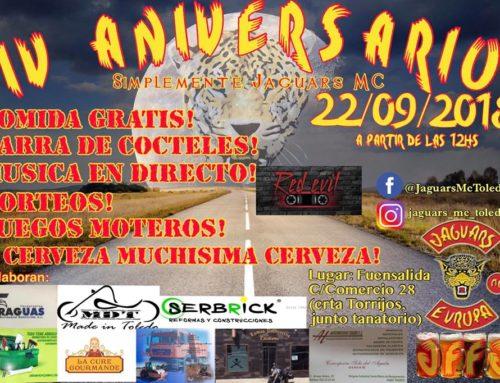 IV Aniversario Jaguars MC Toledo 22 de Septiembre de 2018