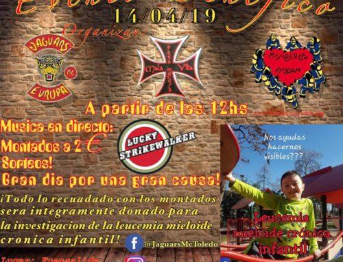 Evento Benéfico contra la Leucemia Mieloide Crónica Infantil – Jaguars MC Toledo – 14 de Abril 2019