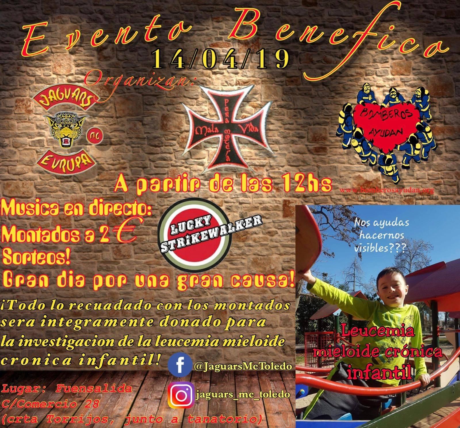 Evento Benéfico contra la Leucemia Mieloide Crónica Infantil Jaguars MC Toledo