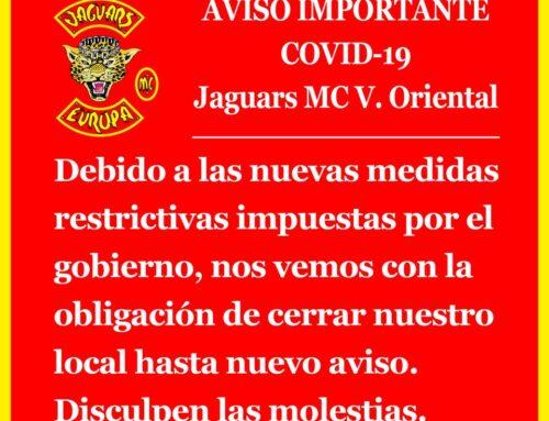 Aviso COVID-19 Jaguars MC – Vallés Oriental